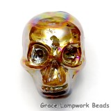 Skull07 - Golden Luster Focal Bead