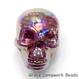 Skull09 - Violet Luster Focal Bead