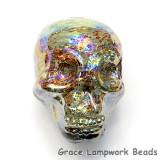 Skull10 - Citron Luster Focal Bead