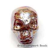 Skull11 - Lava Luster Focal Bead